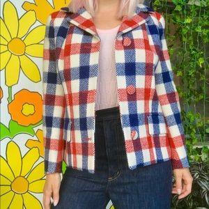Vintage 50s 60s mod plaid wool coat Scotland made